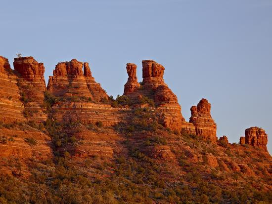 james-hager-cockscomb-formation-at-sunset-coconino-national-forest-arizona