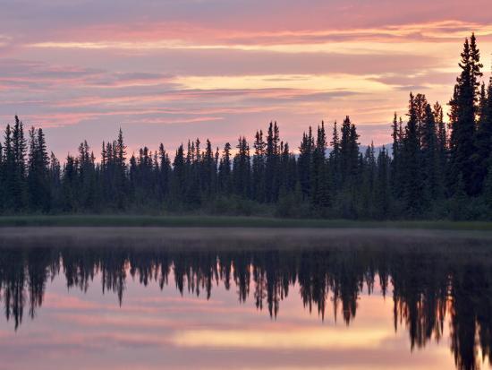 james-hager-sunset-at-an-unnamed-lake-near-salmo-lake-alaska-highway-yukon-territory-canada-north-america