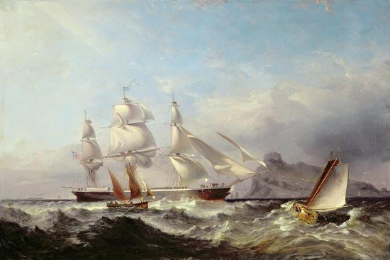 james-harris-of-swansea-a-clipper-ship-off-the-mumbles-lighthouse-swansea