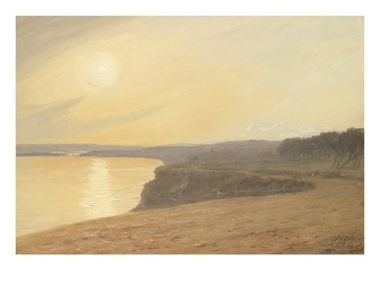 james-hayllar-sunset-near-bournemouth-1899-oil-on-card