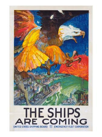 james-henry-daugherty-the-ships-are-coming-1918