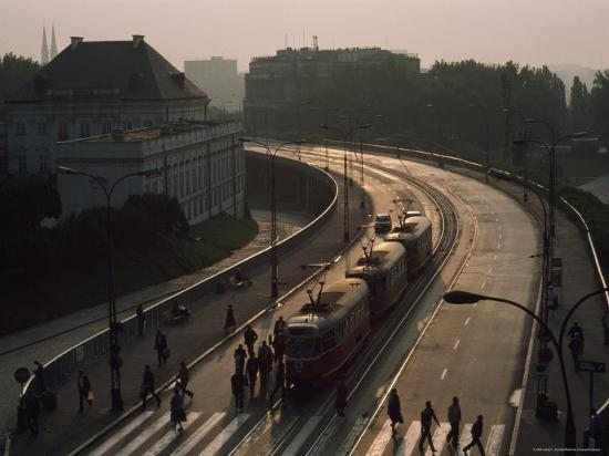 james-l-stanfield-pedestrians-and-trams-in-warsaw-poland