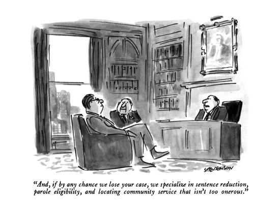 james-stevenson-and-if-by-any-chance-we-lose-your-case-we-specialize-in-sentence-reduct-new-yorker-cartoon