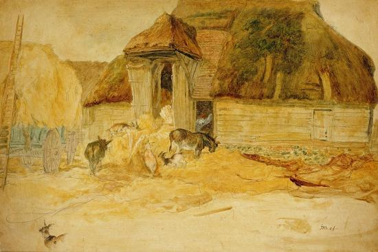 james-ward-animals-before-a-thatched-barn