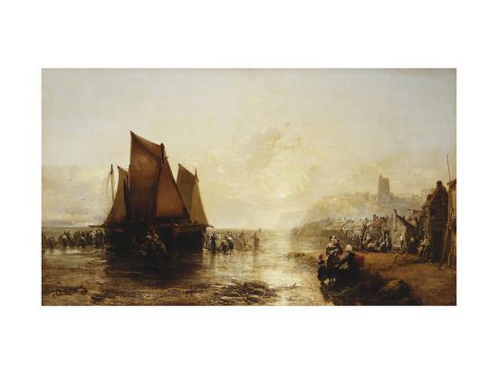 james-webb-fisherfolk-landing-their-catch-on-folkestone-beach