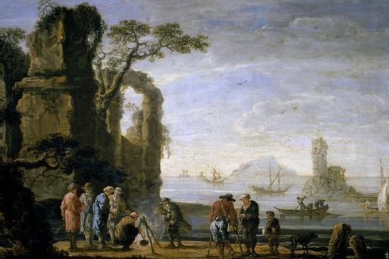 jan-de-momper-a-dock-17th-century-flemish-school