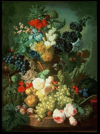 jan-van-os-still-life-mixed-flowers-and-fruit-with-bird-s-nest