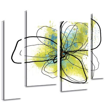 jan-weiss-citron-petals-ii-4-piece-gallery-wrapped-canvas