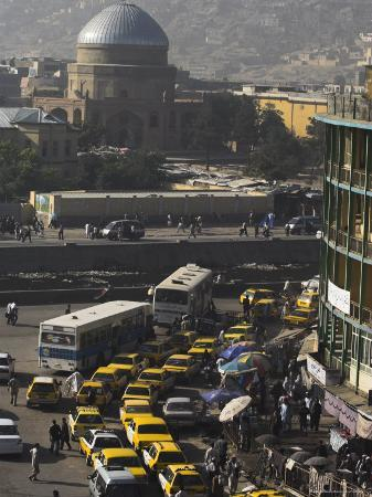jane-sweeney-early-morning-traffic-central-area-kabul-afghanistan-asia