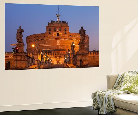 jane-sweeney-italy-lazio-rome-view-of-st-angelo-bridge-and-castle-st-angelo-hadrian-s-mausoleum