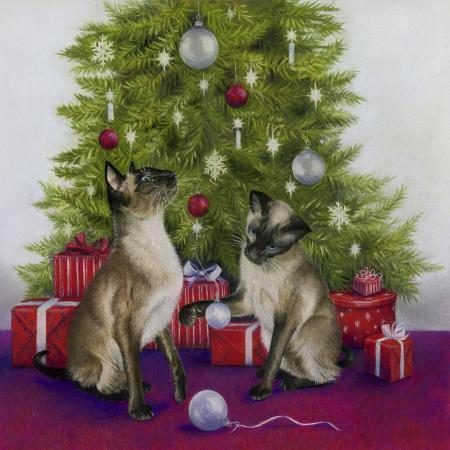 janet-pidoux-christmas-siamese-cats