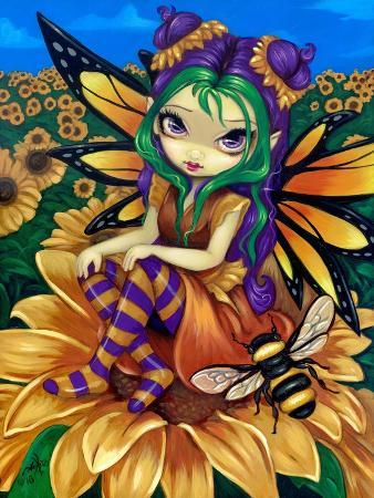 jasmine-becket-griffith-sitting-on-a-sunflower