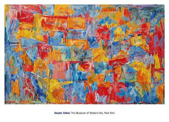 Map art print by jasper johns at art map gumiabroncs Gallery