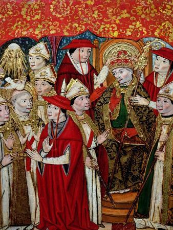 jaume-huguet-election-of-fabian-to-the-papacy