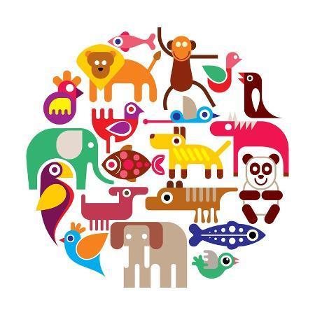 jazzia-zoo-animals-round-illustration