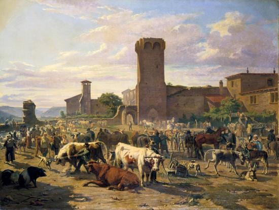 jb-louis-guy-livestock-market-in-l-arbresle-france-mid-late-19th-century