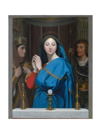jean-auguste-dominique-ingres-the-virgin-adoring-the-host