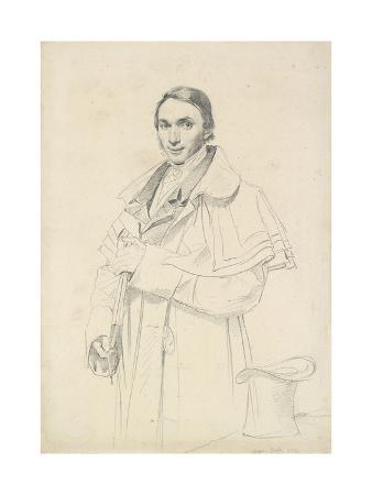 jean-auguste-dominique-ingres-three-quarter-length-portrait-of-jean-francois-antoine-forest-graphite-on-white-wove-paper