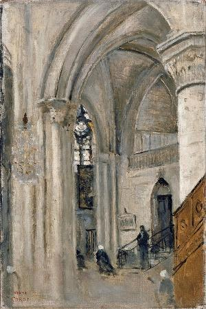 jean-baptiste-camille-corot-interior-of-the-church-at-mantes
