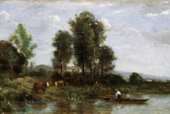jean-baptiste-camille-corot-landscape-with-a-river-19th-century