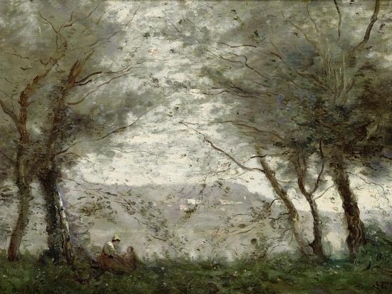 jean-baptiste-camille-corot-the-pond-at-ville-d-avray-through-the-trees-1871