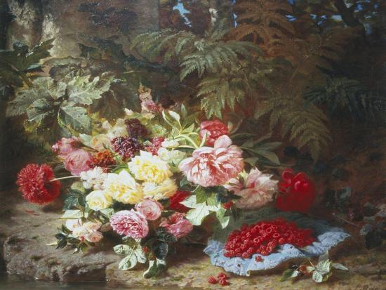 jean-baptiste-claude-robie-still-life-with-roses-and-raspberries