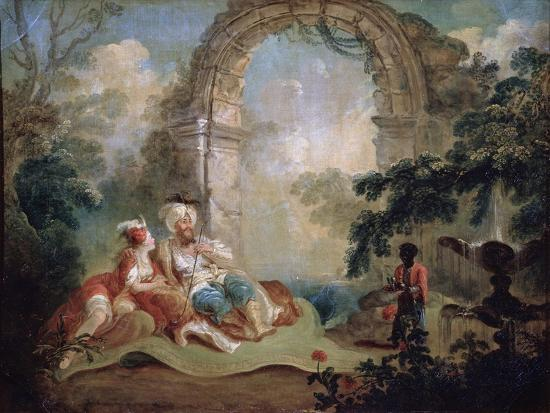 jean-baptiste-hilair-turkish-pasha-and-odalisque-late-18th-or-early-19th-century