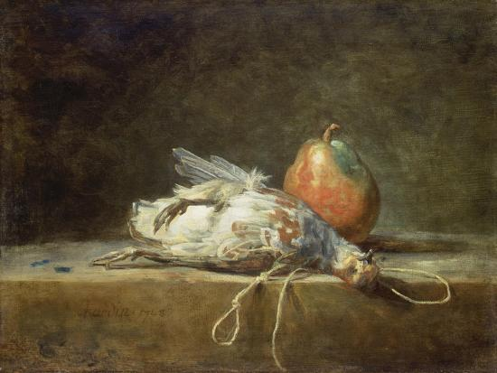 jean-baptiste-simeon-chardin-still-life-with-partridge-and-pear-1748