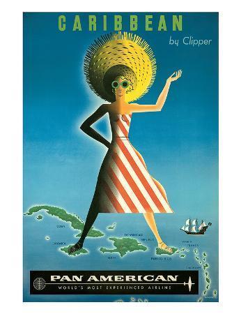 jean-carlu-pan-american-caribbean-by-clipper-c-1958