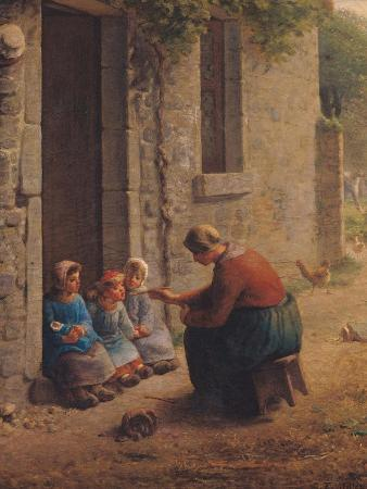 jean-francois-millet-feeding-the-young-1850
