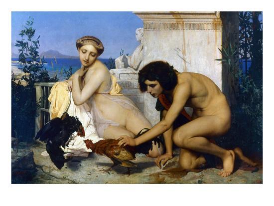 jean-leon-gerome-gerome-cockfight-1846