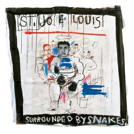 jean-michel-basquiat-st-joe-louis-surrounded-by-snakes-1982