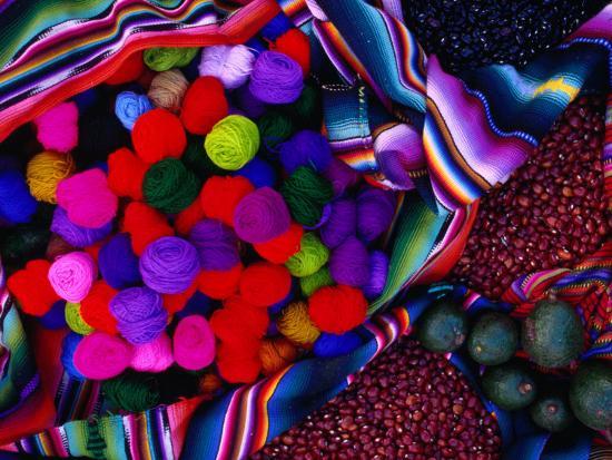 jeffrey-becom-yarn-and-red-nuts-in-market-stall-chichicastenango-guatemala