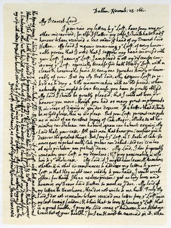 the letter l letter from to lord hatton 23rd november 1661