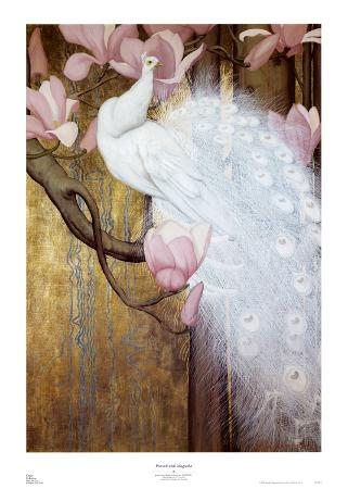 jessie-arms-botke-peacock-with-magnolia
