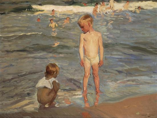 joaquin-sorolla-bathing-children-at-the-beach-of-valencia-1910