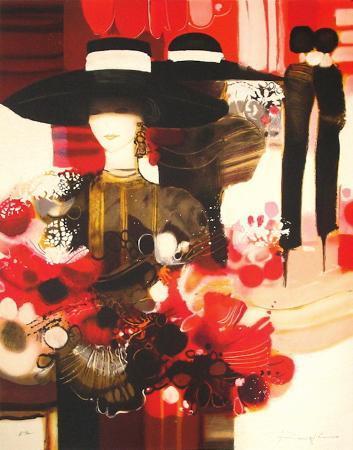 joel-rougie-femme-au-bouquet-de-fleurs