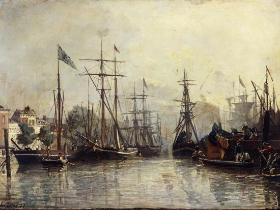 johan-barthold-jongkind-rotterdam-harbour