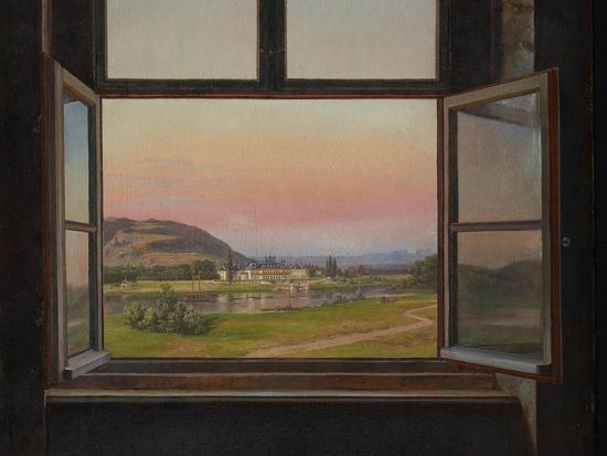 johan-christian-clausen-dahl-view-of-pillnitz-castle-detail-1823