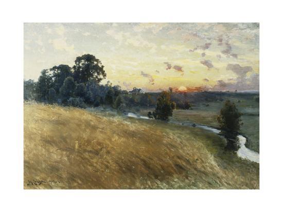 johan-ericson-an-extensive-landscape-at-sunset-1902