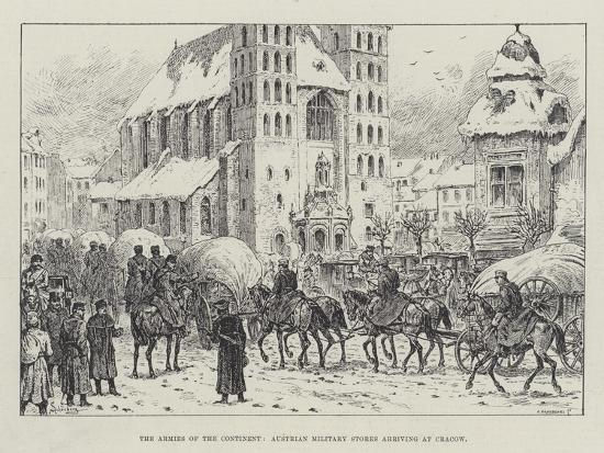 johann-nepomuk-schonberg-the-armies-of-the-continent-austrian-military-stores-arriving-at-cracow