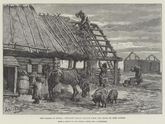 johann-nepomuk-schonberg-the-famine-in-russia-peasants-taking-thatch-from-the-roofs-to-feed-cattle