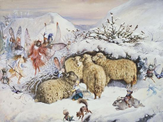 john-anster-fitzgerald-fairies-in-the-snow