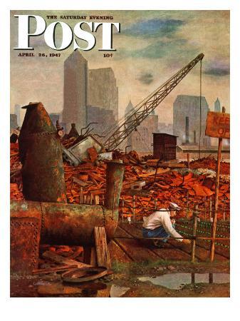 john-atherton-junkyard-garden-saturday-evening-post-cover-april-26-1947