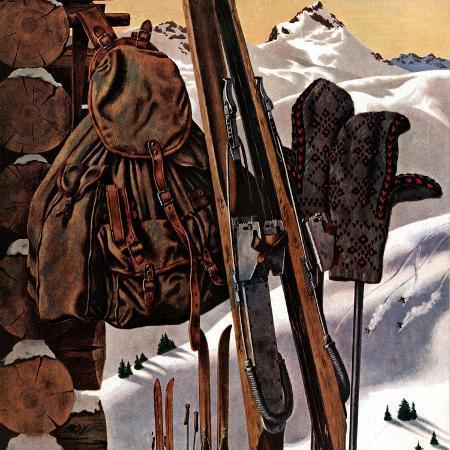 john-atherton-ski-equipment-still-life-february-3-1945