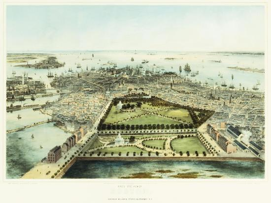 john-bachman-a-bird-s-eye-view-of-boston-1850
