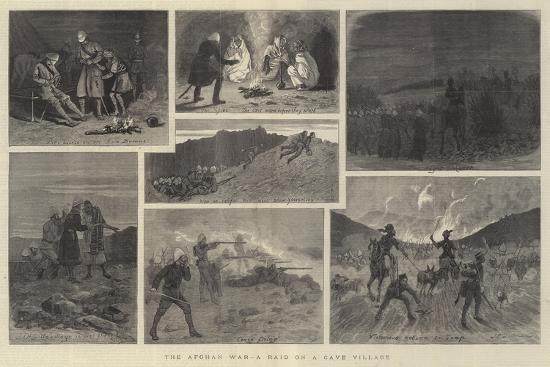 john-charles-dollman-the-afghan-war-a-raid-on-a-cave-village