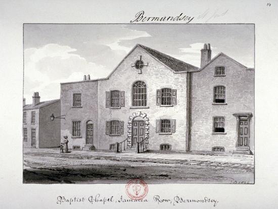 john-chessell-buckler-view-of-the-baptist-chapel-on-jamaica-row-bermondsey-london-1826