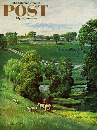 john-clymer-green-kentucky-pastures-saturday-evening-post-cover-july-29-1961