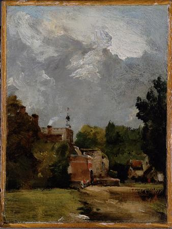 john-constable-east-bergholt-church-from-church-street-oil-on-paper-on-panel